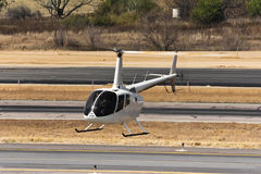 Hovering Robinson R66 Helicopter Stock Images