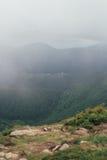 从Hoverla,乌克兰的山景 免版税图库摄影