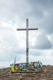 Hoverla 喀尔巴阡山脉, Ukraine.It是凌晨 30 05 2015年 免版税图库摄影