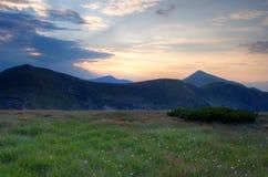 Hoverla. Chornogora ridge Stock Photo