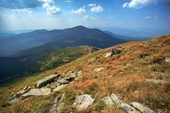 Hoverla, a montanha a mais alta em Ucrânia Fotos de Stock Royalty Free