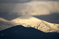 Hoverla mountain in spring. Highest peak of Chornohora ridge. Royalty Free Stock Photos