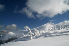 Hoverla in winter royalty free stock photography
