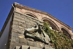 Hovhannes Tumanyan博物馆在耶烈万 的臂章 免版税库存图片