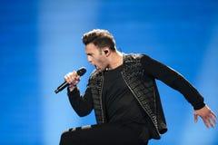 Hovig de Chipre en la competencia de canción de la Eurovisión Fotos de archivo libres de regalías