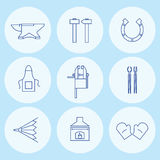 Hovslagaren bearbetar symboler också vektor för coreldrawillustration royaltyfri illustrationer