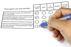 How Agree Are You Survey Stock Images