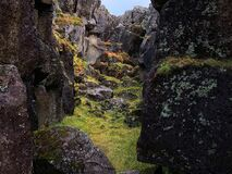 National Park Thingvellir in autumn colors in Iceland i