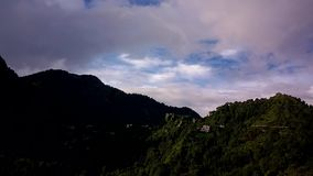 Nainital Timelapse- clouds over Bara Patthar stock video