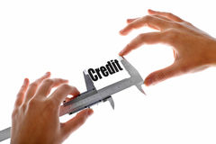 How big is our credit Stock Image