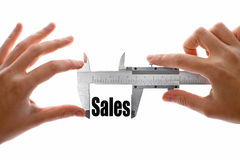 How big are our sales Stock Image