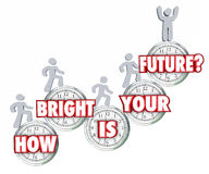 How Bright is Your Future People Climbing Success Going Up Predi vector illustration