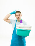 How can i do the laundry Stock Image