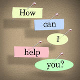 How Can I Help You Words Bulletin Board Question Royalty Free Stock Photography