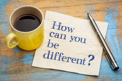 How can you be different? Stock Photos