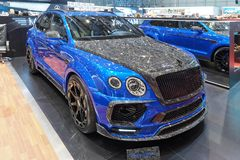 88th Geneva International Motor Show 2018 - Mansory Bentley Bentayga Bleurion Edition stock photo