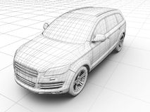 How car is designed vector illustration