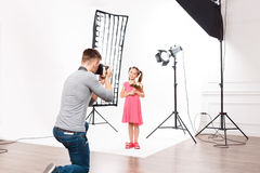 This is how childrens photoshoot looks like Royalty Free Stock Image