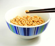 How chinese eat cereal Royalty Free Stock Image