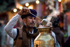 How about a cup of tea?. A tea vendor from Rajasthan, India Royalty Free Stock Photos
