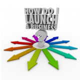 How Do I Launch a Business New Company Entrepreneur Royalty Free Stock Photos