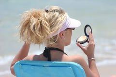 How Do I Look?. At The Beach Stock Photos