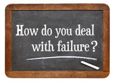 How do you deal with failure? Blackboard sign. Stock Images
