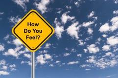How do you feel. Traffic sign stock illustration
