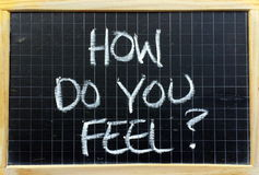 How Do You Feel? Royalty Free Stock Photography