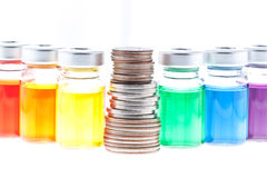 How does your coin stack up? Stock Photography
