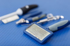 This is how dog grooming tools look like Stock Photography