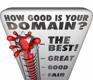 How Good Is Your Domain Thermometer Rating Website Name Royalty Free Stock Photography