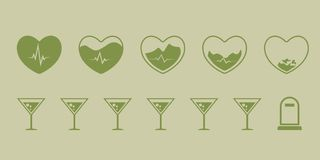 How the heart breaks down with prolonged use of alcohol. Excessive use of alcohol is a big problem for many developed countries royalty free illustration