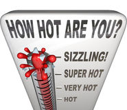 Free How Hot Are You Words Thermometer Attractive Royalty Free Stock Image - 31479056