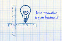 How innovative is your business? Stock Image