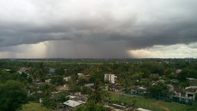 How its rain photo from top. This was caught from seventh floor.How its rains far away.Like a storm comming.Beautyful Stock Image