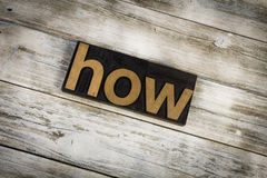 How Letterpress Word on Wooden Background royalty free stock photo