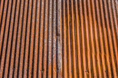Rusted Corrugated Metal. How long does it take for metal to rust and corrode like this Stock Photo