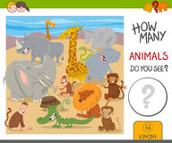 How many animals game for kids Royalty Free Stock Image