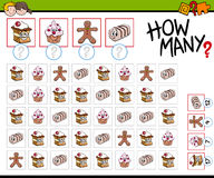 How many sweets activity Royalty Free Stock Photography