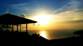 How many times you see sunset?. Once day in Phuket Stock Photos
