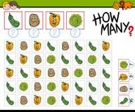 How many vegetables activity Stock Photo