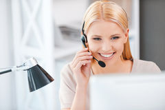 How may I help you? Royalty Free Stock Images