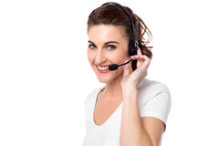 How may i help you ! Stock Photo