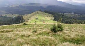 Sunny Carpathians royalty free stock image