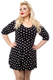 How is my polka dots dress ? Stock Images