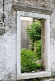 Stone window frame stock photography