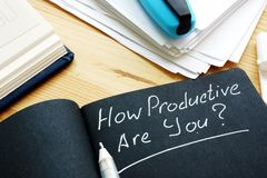 Free How Productive Are You Question. Productivity Concept Royalty Free Stock Photography - 156891577