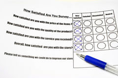 How satisfied are you survey Stock Photo