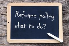 How should refugee policy continue?.  Stock Photography